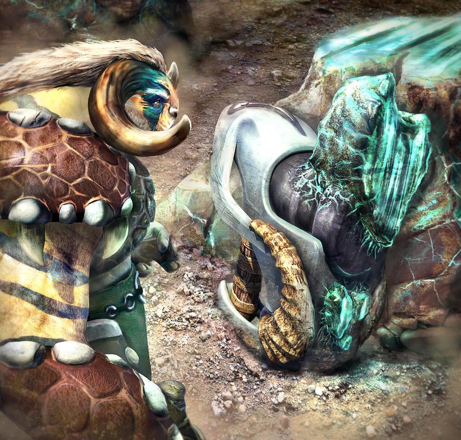 Elder Titan Weapon Concept by mjtrickster