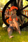 Rebeca orange and country 3