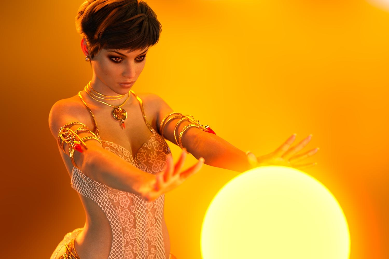 Rebeca and the magic ball by BestmanPi