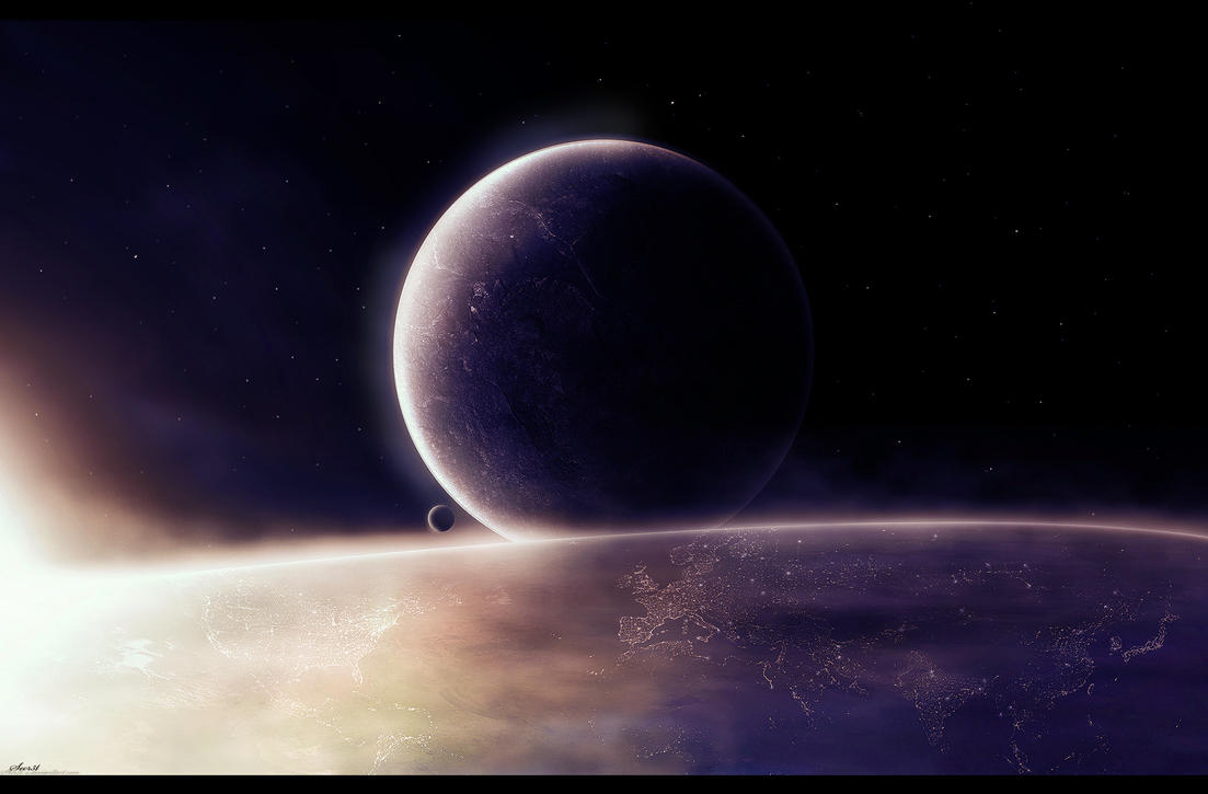 Outer Space Sunrise by Secr3tDesign