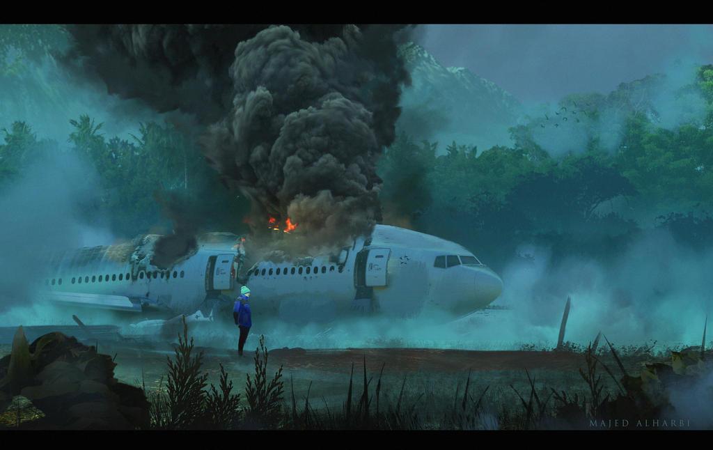 Falling Plane by Secr3tDesign