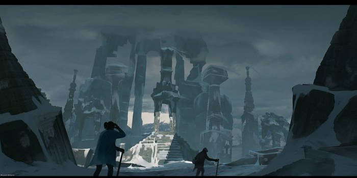 Ruins in snow