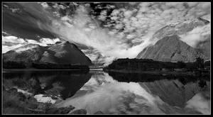 Morning at the lake by Basement127