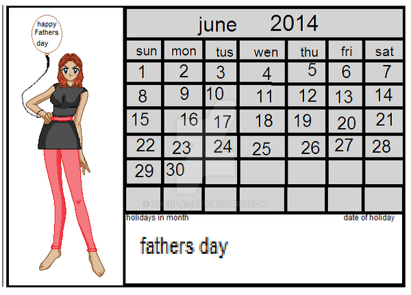 calinder entery for june 2014 contest by theolas on deviantart