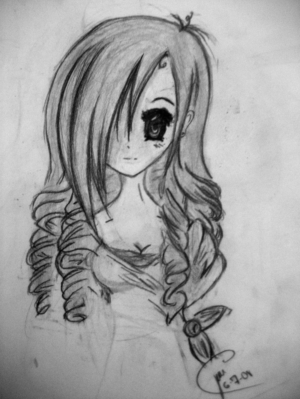 Фото на аву карандашом аниме