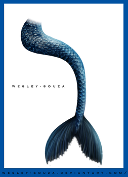 Mermaid Tail - blue version