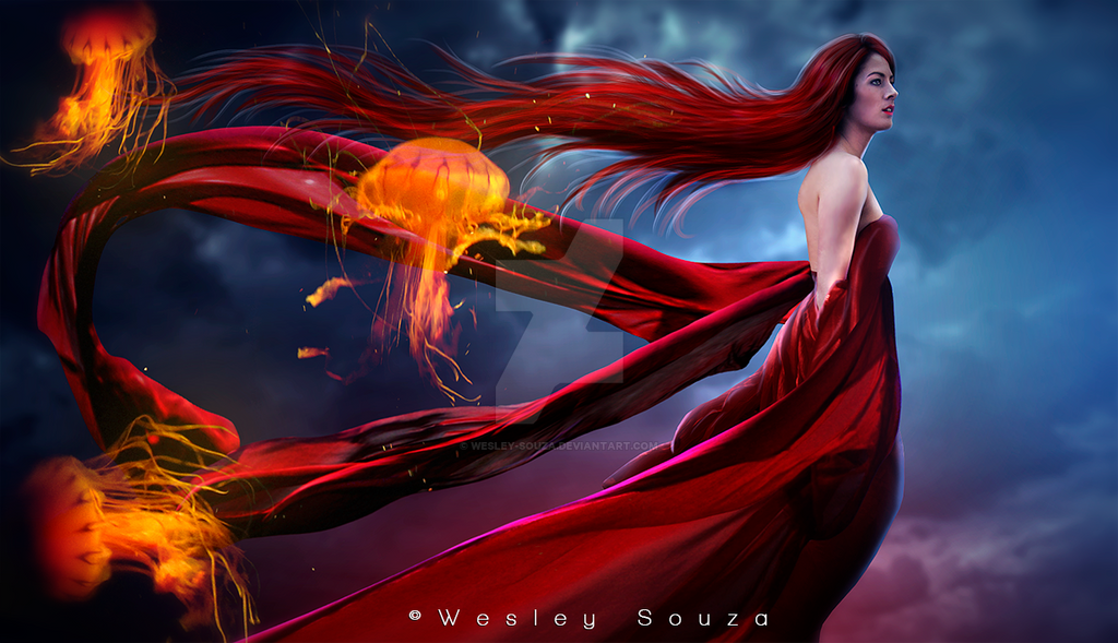 The Flame of the Jellyfish by Wesley-Souza