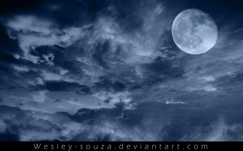 Sky with Moon Premade by Wesley-Souza