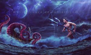 Poseidon - God of the Sea by Wesley-Souza