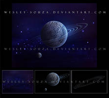 Planet stock pack - Blue Space by Wesley-Souza