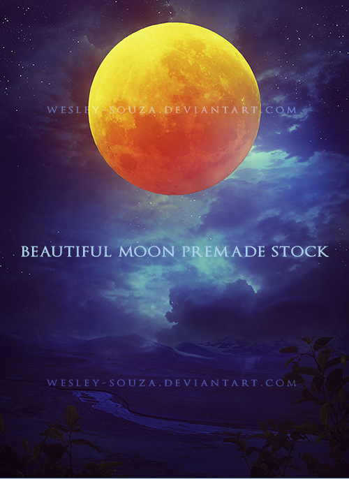 Beautiful Moon Premade Stock by Wesley-Souza