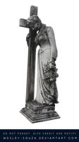 Melancholy Statue - PNG Stock by Wesley-Souza