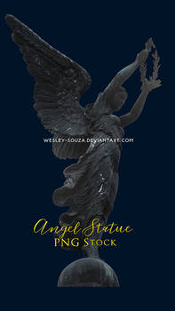 Angel Statue - PNG Stock