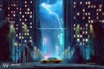 Rainy night by Wesley-Souza