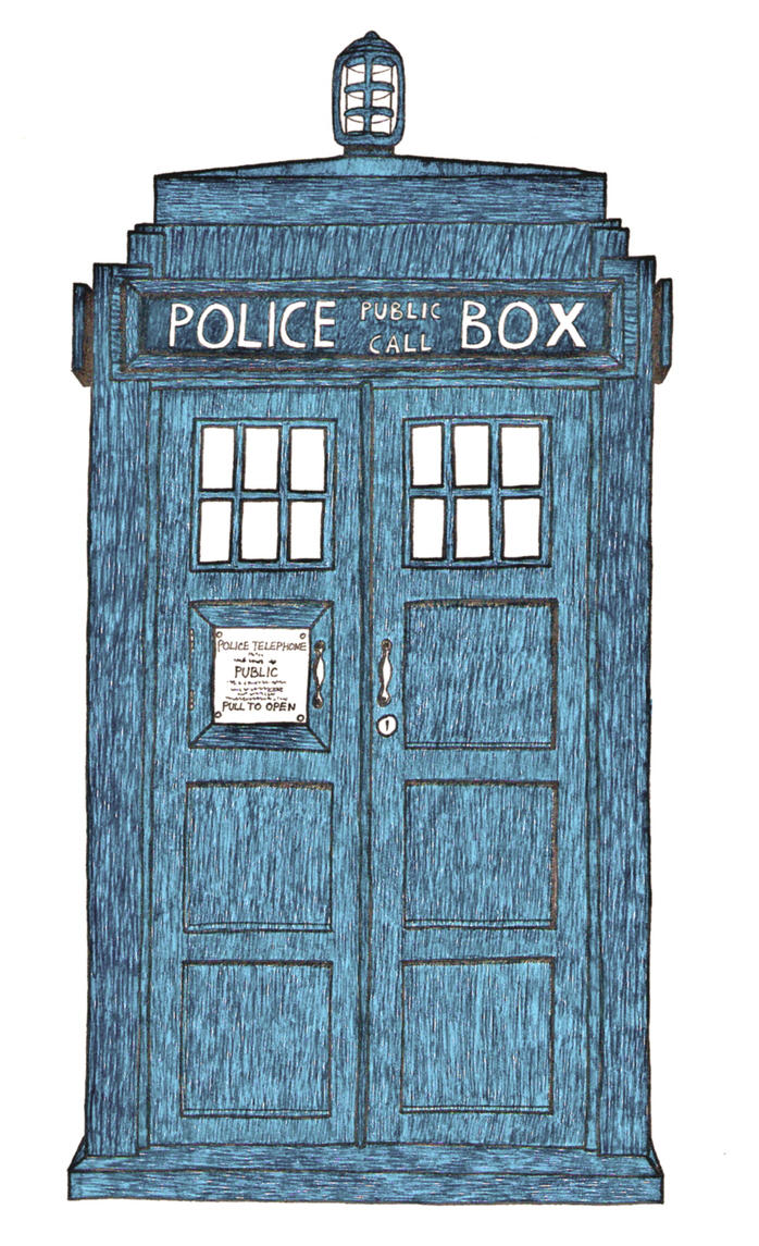 My first attemp to draw Tardis by ObviouslyCumbersome