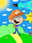Lincoln Loud in the world of Mario