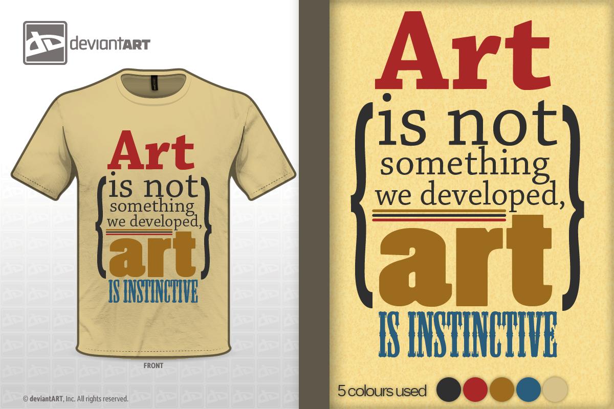 'Art is Instinctive' - Quote Design