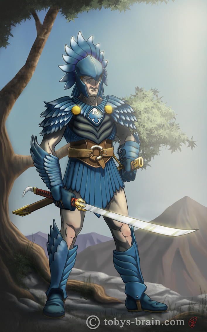 Blue Eagle Knight by tobys-brain