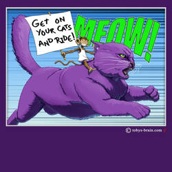 PMD Riding Purple Cat