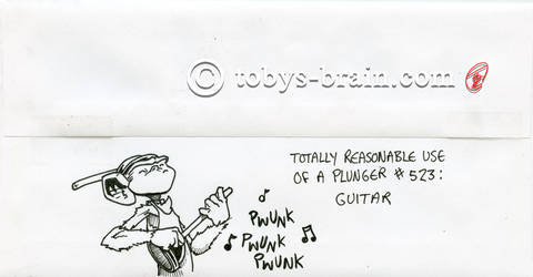 PMD Xmas Card Envelopes 2019: Plunger Guitar