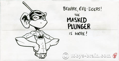 PMD Xmas Card Envelopes 2019: The Masked Plunger