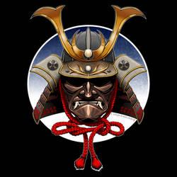 New Shirt Design:  Samurai Helmet