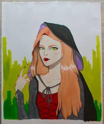 Witch lady by MathematicsX