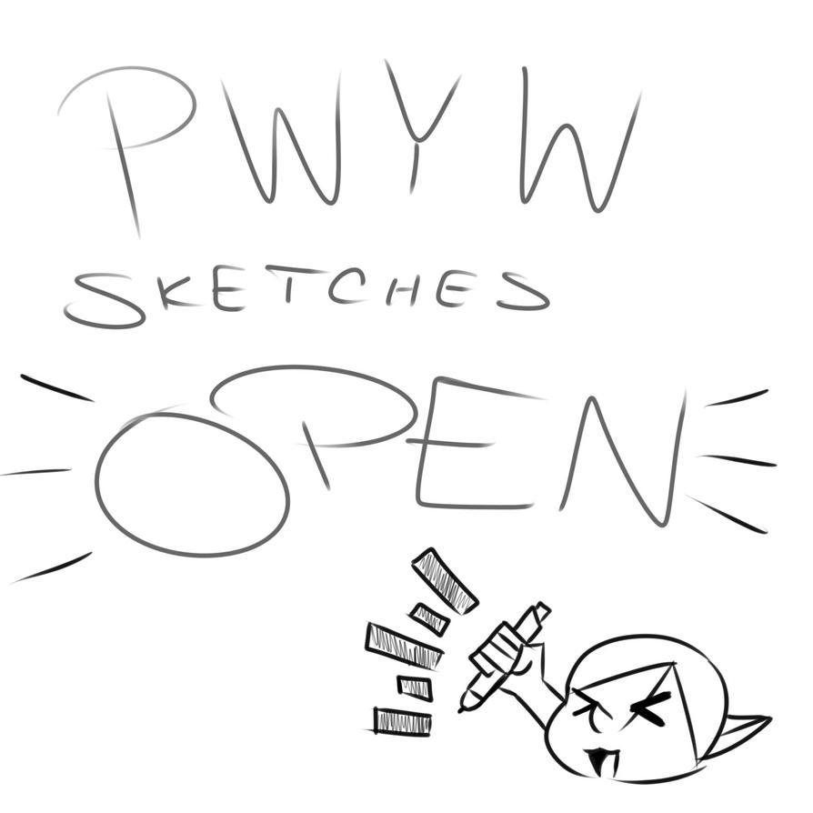 PWYW Sketches Open Banner by Sh4rk-K1ng