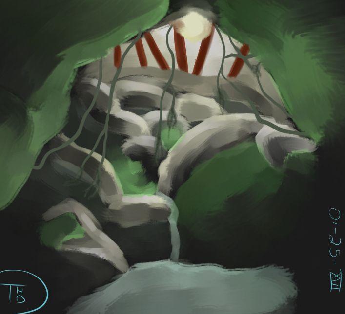 Cave Environment Painting Project 01-25-XVI by Sh4rk-K1ng