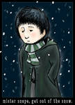 mr snape, out of the snow - ls