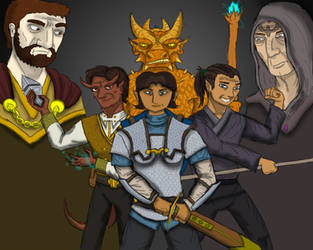 DnD 5e Adventuring Party by Internet-Ninja