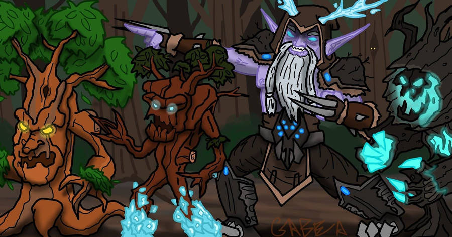 Malfurion and the Treanettes by Internet-Ninja