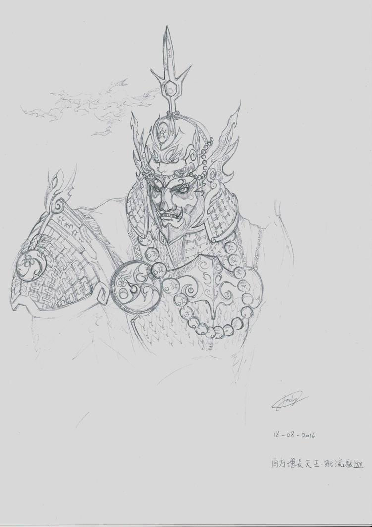 King of the Southern Realm-Virudhaka by jackylkl