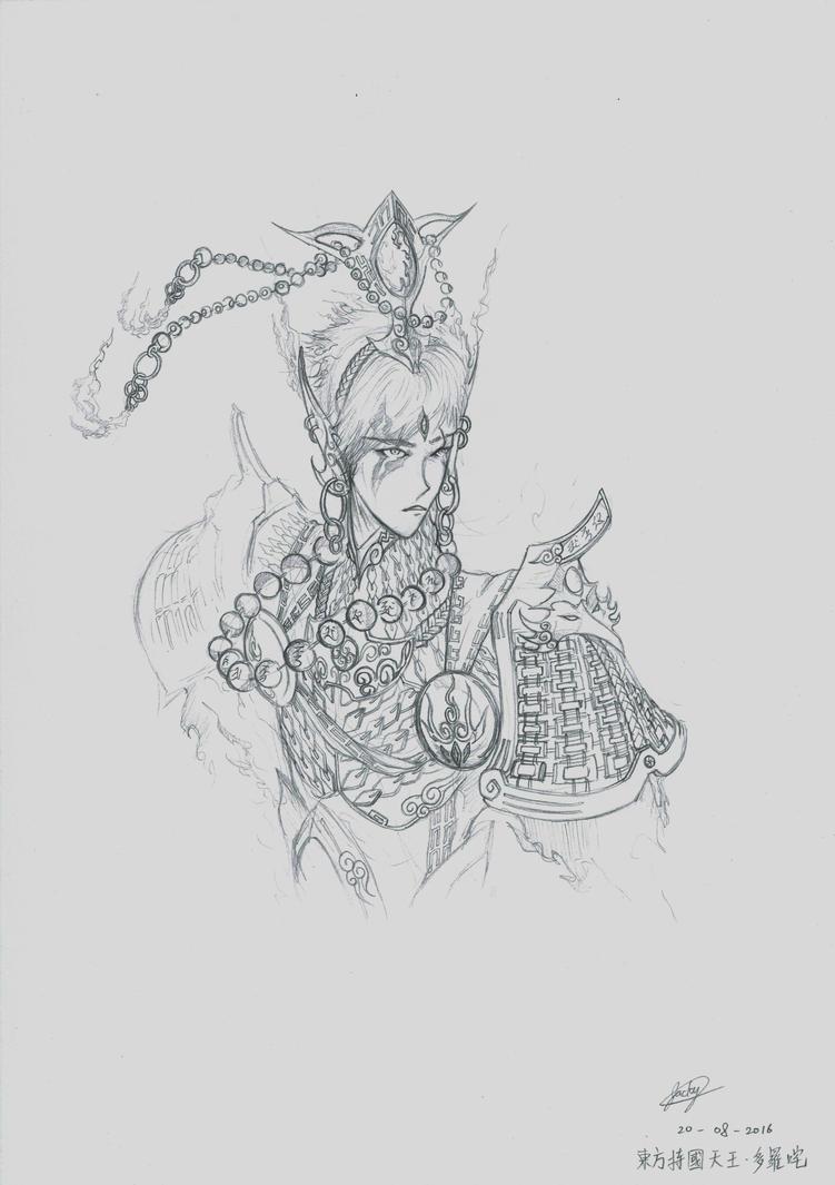 King of the Eastern Realm, Dhrtarastra by jackylkl