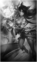 Signature Ahri - League of Legends (B et W)