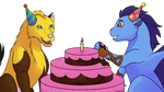 Commish: Birthday Cake! by horse14t