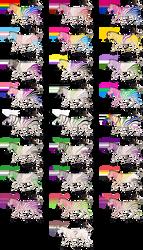 Pride Zebra Adopts {105/108 Open}
