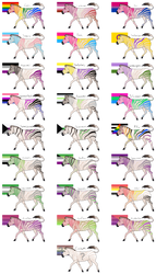 Pride Zebra Adopts {108/108 Open} by horse14t
