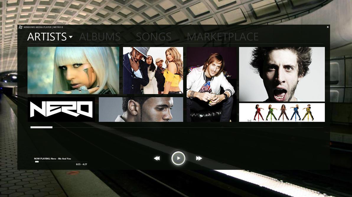Windows 8 Media Player Metro Style by miniarma