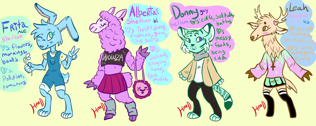 SPECIAL DEAL! fursona generator adopts! (CLOSED) by