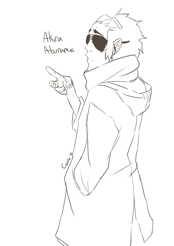 Aburame Sketch by JustCoyote