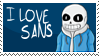 [Stamp][Undertale] I love Sans Stamp by ShukaMadoxes