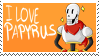 [Stamp][Undertale] I love Papyrus Stamp by ShukaMadoxes