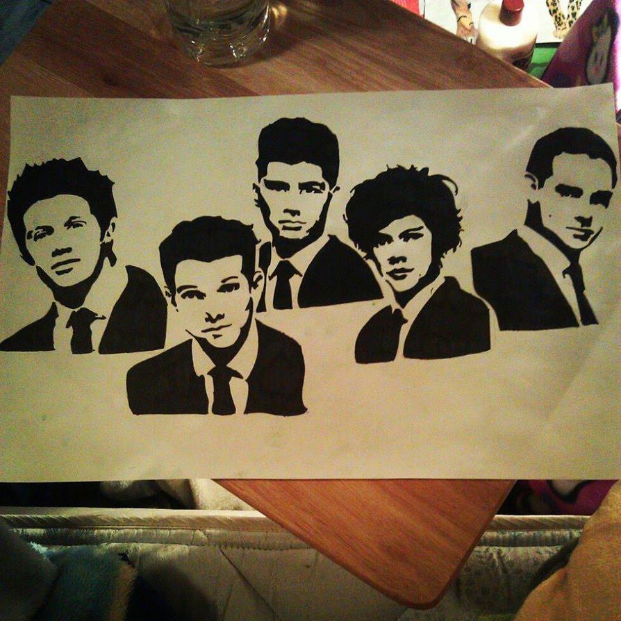 One Direction Group Pop Art | www.pixshark.com - Images ...