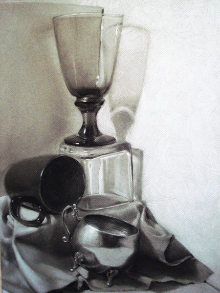 Charcoal Still life by MaGLIL
