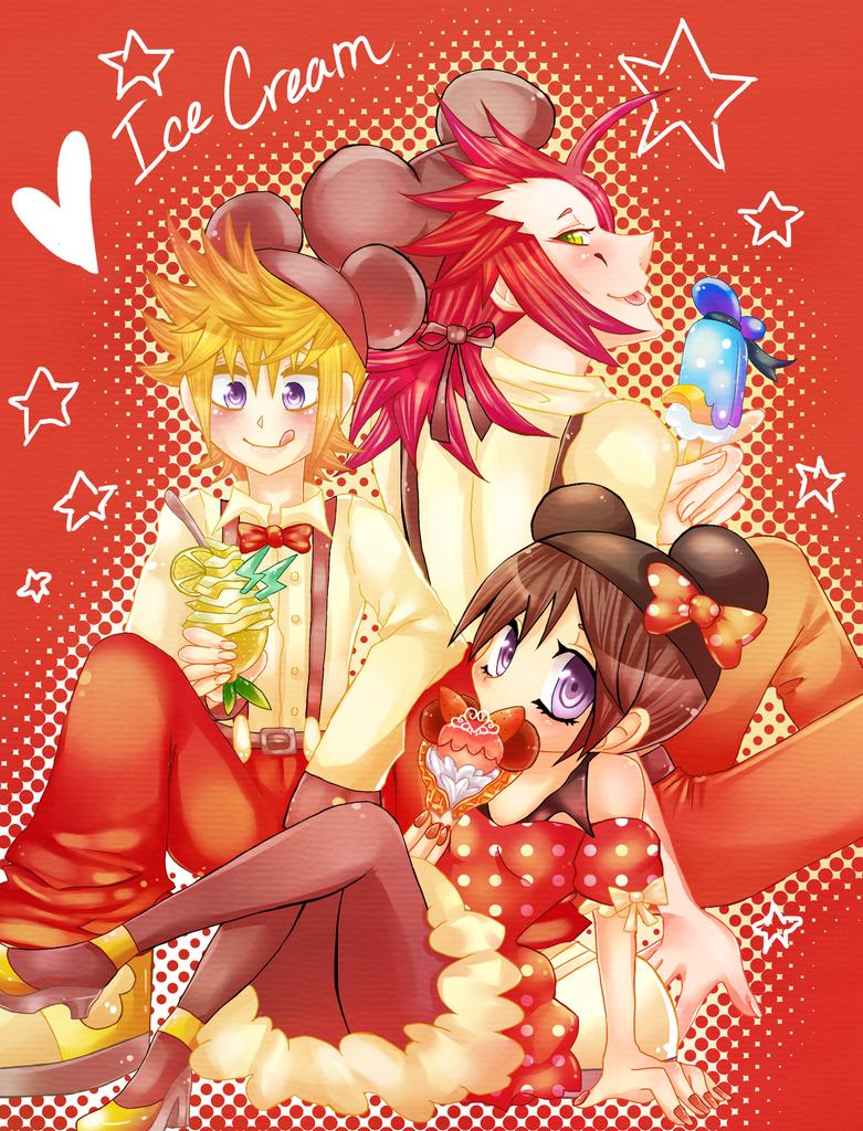 OT3 and Ice Cream by PinkAngelChao