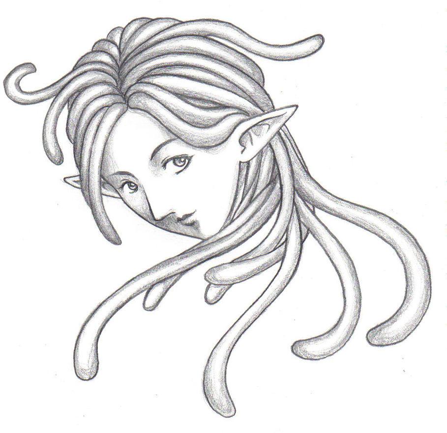 Dreadlock Elf Girl By Suzuko42