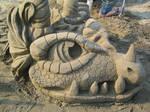 Sand Dragon Profile Right