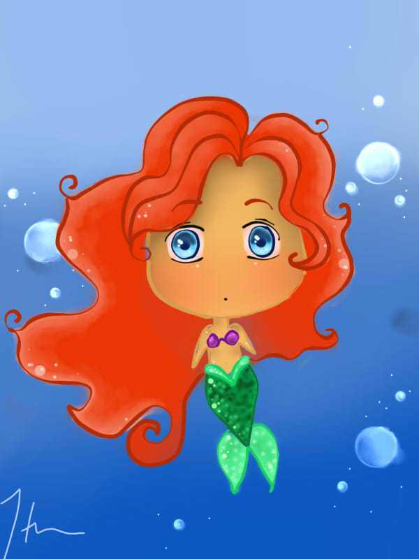 Chibi Ariel by willowmaddox