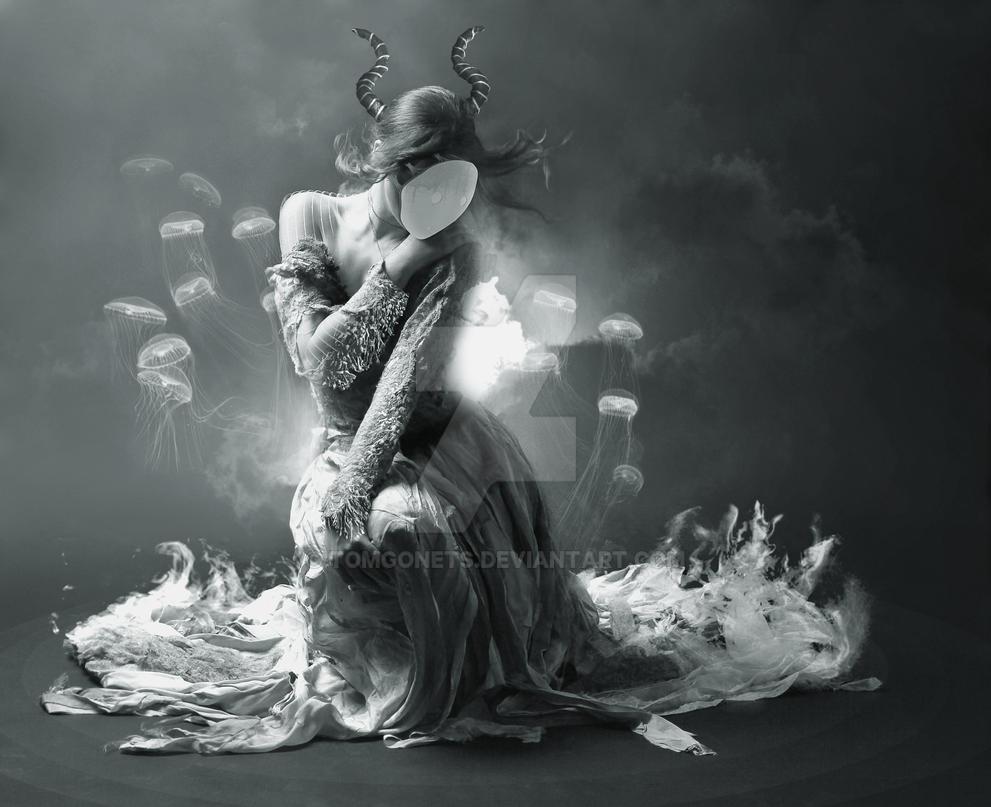 Black Mermaid by TomGonets